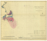 Cape Ann to Gay Head 1873 AC Nautical - 1:400,000 Chart 7