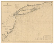 Gay Head to Cape Henlopen 1892 AC Nautical - 1:400,000 Chart 8