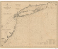 Gay Head to Cape Henlopen 1895 AC Nautical - 1:400,000 Chart 8