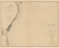 Cape May to Cape Henry 1878 AC Nautical - 1:400,000 Chart 9