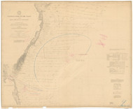 Cape May to Cape Henry 1887 AC Nautical - 1:400,000 Chart 9