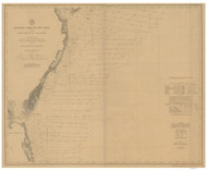 Cape May to Cape Henry 1893 AC Nautical - 1:400,000 Chart 9