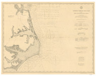 Cape Henry to Cape Lookout 1887 AC Nautical - 1:400,000 Chart 10