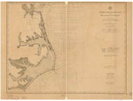 Cape Henry to Cape Lookout 1888 AC Nautical - 1:400,000 Chart 10