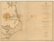 Cape Henry to Cape Lookout 1893 AC Nautical - 1:400,000 Chart 10