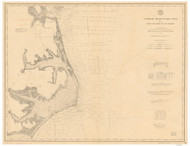 Cape Henry to Cape Lookout 1895 AC Nautical - 1:400,000 Chart 10