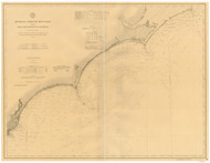 Cape Hatteras to Cape Romain 1882 AC Nautical - 1:400,000 Chart 11