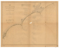 Cape Hatteras to Cape Romain 1888 AC Nautical - 1:400,000 Chart 11