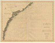 Cape Romain to St. Marys Entrance 1878 AC Nautical - 1:400,000 Chart 12