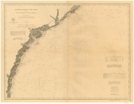 Cape Romain to St. Marys Entrance 1885 AC Nautical - 1:400,000 Chart 12