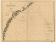 Cape Romain to St. Marys Entrance 1899 AC Nautical - 1:400,000 Chart 12