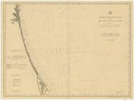 Fernandina to Cape Canaveral 1882 AC Nautical - 1:400,000 Chart 13