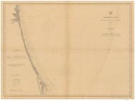 Fernandina to Cape Canaveral 1908 AC Nautical - 1:400,000 Chart 13