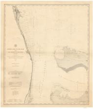 Cape Canaveral to Fowey Rocks 1884 AC Nautical - 1:400,000 Chart 14