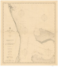 Cape Canaveral to Fowey Rocks 1900 AC Nautical - 1:400,000 Chart 14