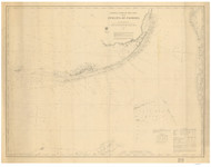 Straits of Florida 1868 AC Nautical - 1:400,000 Chart 15