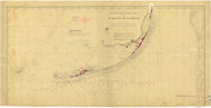 Straits of Florida 1870 AC Nautical - 1:400,000 Chart 15