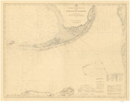 Straits of Florida 1895 AC Nautical - 1:400,000 Chart 15