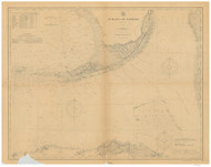 Straits of Florida 1907 AC Nautical - 1:400,000 Chart 15
