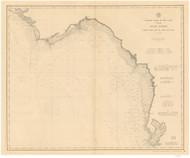 Tampa Bay to Cape San Blas 1895 AC Nautical - 1:400,000 Chart 17