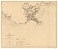 Mobile Bay to Atchafalaya Bay 1899 AC Nautical - 1:400,000 Chart 19