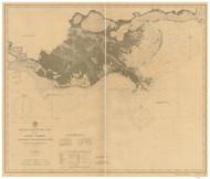 Mobile Bay to Atchafalaya Bay 1900 AC Nautical - 1:400,000 Chart 19