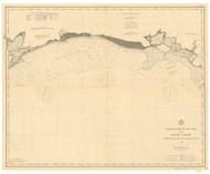 Atchafalaya Bay to Galveston Bay 1890 AC Nautical - 1:400,000 Chart 20