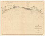 Atchafalaya Bay to Galveston Bay 1900 AC Nautical - 1:400,000 Chart 20