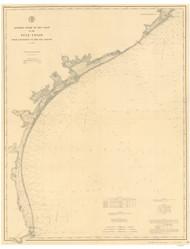 Galveston to the Rio Grande 1883 AC Nautical - 1:400,000 Chart 21