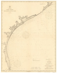 Galveston to the Rio Grande 1915 AC Nautical - 1:400,000 Chart 21