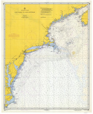 Cape Sable to Cape Hatteras 1957 Old Map Nautical Chart 1:1,200,000 sc Reprint 1000