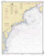 Cape Sable to Cape Hatteras 2012 Old Map Nautical Chart 1:1,200,000 sc Reprint 1000