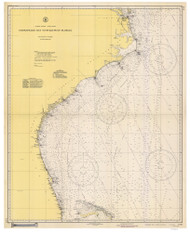 Chesapeake Bay to Straits of Florida 1942 Old Map Nautical Chart 1:1,207,256 sc Reprint 1001
