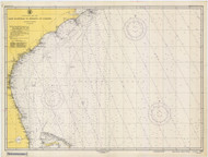 Cape Hatteras to Straits of Florida 1947 Old Map Nautical Chart 1:1,207,256 sc Reprint 1001