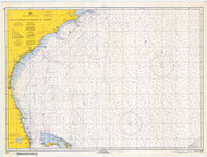 Cape Hatteras to Straits of Florida 1968 Old Map Nautical Chart 1:1,207,256 sc Reprint 1001