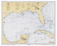 Gulf of Mexico 1981 Old Map Nautical Chart 1:2,160,000 sc Reprint 1007