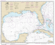 Gulf of Mexico 2014 Old Map Nautical Chart 1:2,160,000 sc Reprint 1007
