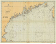 Bay of Fundy to Cape Cod 1933 AC General Chart 1106