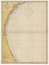 Charleston Light to Cape Canaveral 1927 AC General Chart 1111