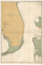 Cape Canaveral to Key West 1916 AC General Chart 1112