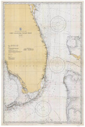 Cape Canaveral to Key West 1933 AC General Chart 1112