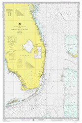Cape Canaveral to Key West 1975 AC General Chart 1112