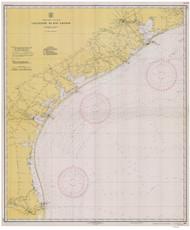 Galveston to Rio Grande 1927 AC General Chart 1117