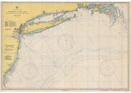Approaches to New York Nantucket Shoals to Five Fathom Bank 1944 AC General Chart 1108