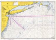 Approaches to New York Nantucket Shoals to Five Fathom Bank 1970 AC General Chart 1108