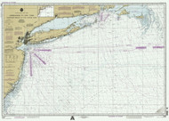 Approaches to New York Nantucket Shoals to Five Fathom Bank 1995 AC General Chart 1108
