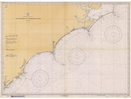 Cape Hatteras to Charleston 1934 AC General Chart 1110