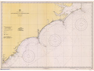 Cape Hatteras to Charleston 1941 AC General Chart 1110