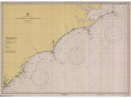 Cape Hatteras to Charleston 1945 AC General Chart 1110