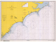 Cape Hatteras to Charleston 1966 AC General Chart 1110